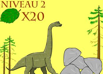 Brachiosaure mange feuille niv2