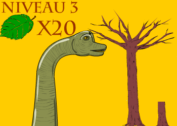 Brachiosaure mange feuille niv3
